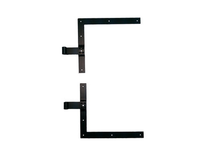 L-geheng zwaar zwart duimdiameter 16mm