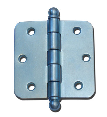 Blank scharnier met bolkop (ronde hoeken)