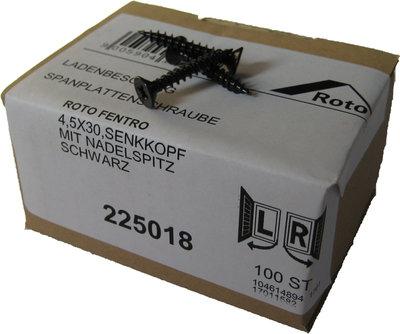 225018 Roto zwarte schroef 4.5x30