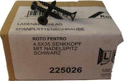 225026 Roto zwarte schroef 4.5x35
