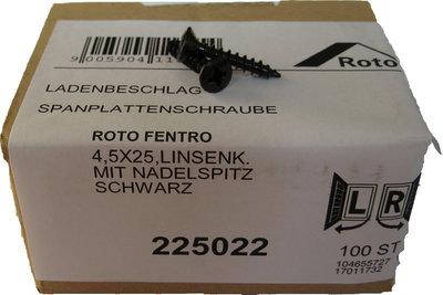 225022 Roto zwarte schroef 4.5x25