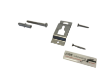 RVS ophanghaak voor vaste montage met montage materiaal
